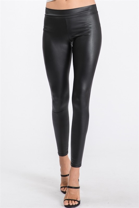 Picture of Slim Fit Faux Leather Leggings 🇺🇸