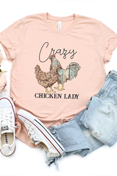 Picture of Crazy Chicken Lady Graphic Tee