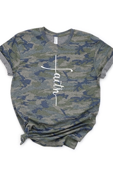 Picture of Faith Cross Camo Graphic Tee by FBT
