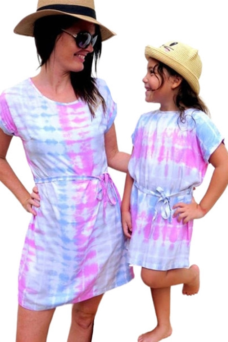 Picture of Youth Cotton Candy Tie Dye Dress