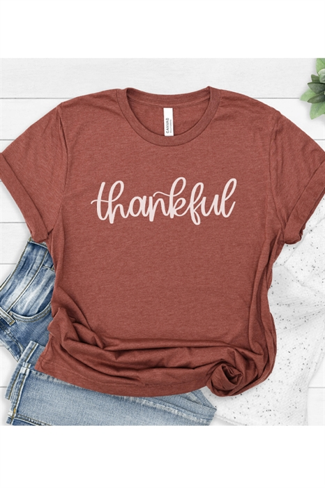 Picture of Thankful Script Graphic Tee