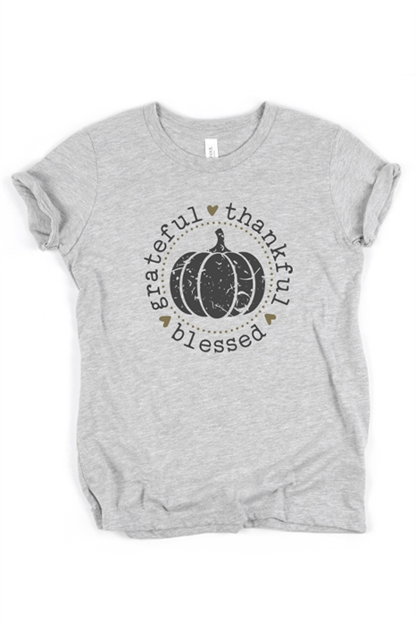 Picture of Thankful Grateful Blessed Graphic Tee