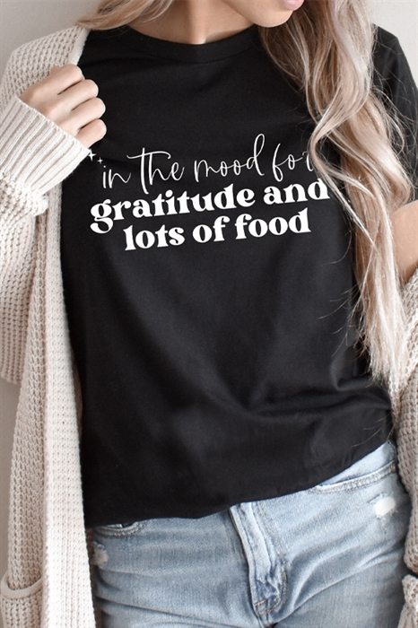 Picture of Gratitude and Food Graphic Tee