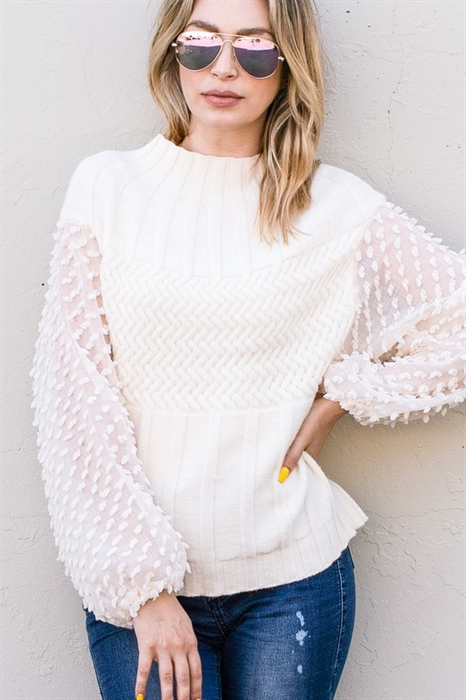 Picture of Balloon Sleeve Sweater